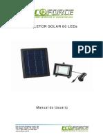 Manual Instrues Refletor Solar 60 LEDs 15351