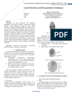 A Review on Fingerprint Detection and Recognization Techniques