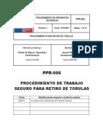 PPR-006 PTS Retiro de Tórulas