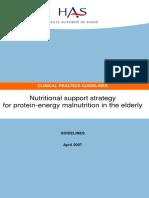 Malnutrition Elderly Guidelines