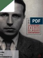 (Manifestes) Georges Bataille-La sociologie sacrée du monde contemporain-Éditions Lignes (2004).pdf