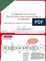 2016 11 25 La Gestion Territorial de La Vision Instrumental a La Realidad MINAM
