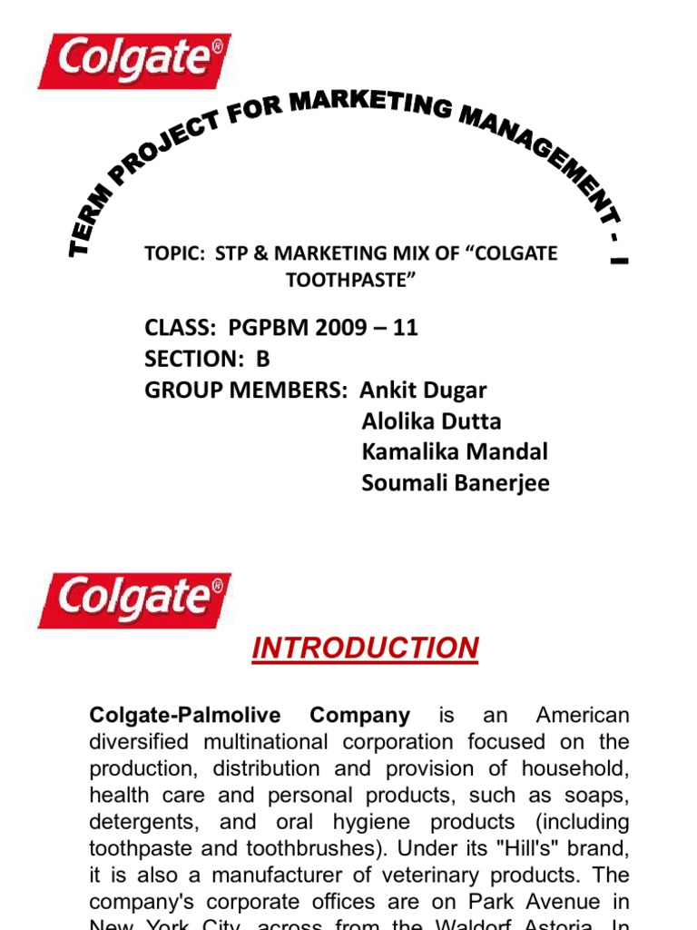 colgate toothpaste marketing mix