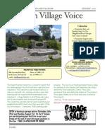 South Village Spring Newsletter-August 2010