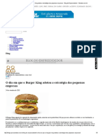 O Dia Em Que o Burger King Adotou a Estratégia Das Pequenas Empresas - Blog Do Empreendedor - Estadao.com