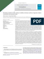 Carrera & Muñoz_2008_Trusting Evolution_Constrains From Growth Strata Argentina