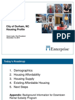 Enterprise Durham Housing Profile