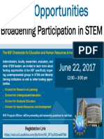 Bulletin Board Flyer 2017 - NSF Broadnening Participation Webinar - Full Registration Link