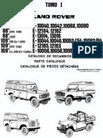 Catalogo de Recambios Land Rover Santana 88-109 Tomo I