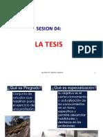 Sesión 04 La Tesis
