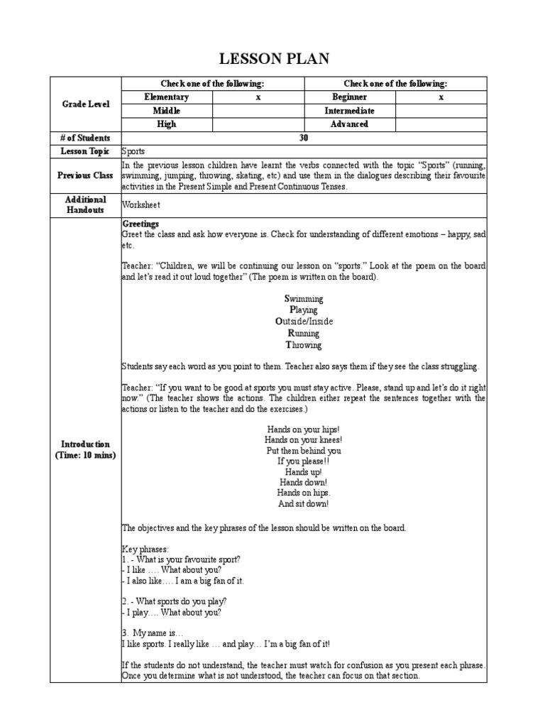 Lesson Plan Greg Mroczek Phrase Lesson Plan