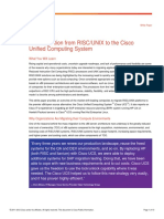 Cisco - SAP Migration From RISC-UNIX to the Cisco Unified Computing System
