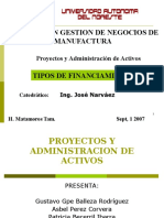 Tipos de Financiamiento