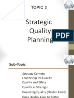 BJMQ 3013-Topic3 - Strategic Quality Planning