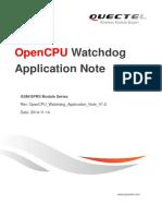 Quectel OpenCPU Watchdog Application Note V1.0