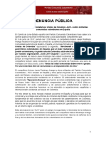 Denuncia Publica Nelson Restrepo Arango