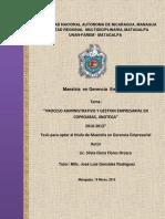 Procesos administrativos y gestión Empresarial