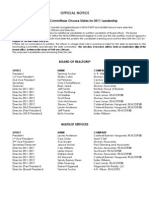 2011 Board and MLS Proposed Officers and Directors Slate
