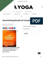 Nourishing Breath of Creation Meditation