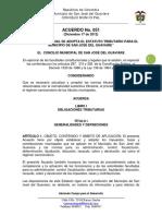 Acuerdo No. 051 de Diciembre 17 2012 Estatuto Tributario