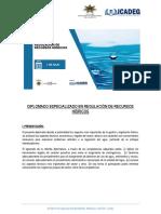 Hoja Informativa Regulación de Recursos Hídricos