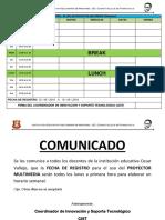Control de Uso Educativo de Proyector Multimedia