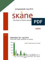 Inkvarteringsstatistik maj 2010 Skåne