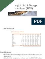 Pembangkit Listrik Tenaga Panas Bumi (PLTP)