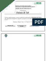 Modelo de Certificado Dos Alunos