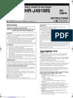 Video Recorder Manual Engleza Hrj491ms