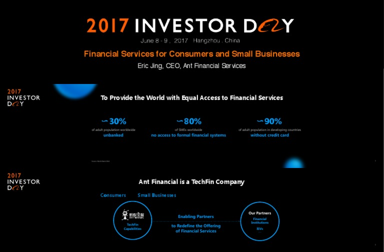 Ant Financial-Financial Services for Consumers and Small