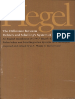 The Difference Between Fichte's and Schelling's System of Philosophy