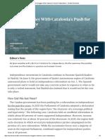 Informe de Stratfor Worldwiev sobre el referéndum  anunciado para el 1 de Octubre