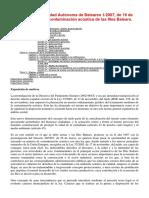 Ley 1_2007,(Contaminación Acústica en Baleares)