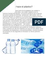 Cómo Se Hace El Plástico
