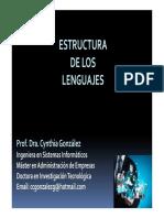 Estructura de Los Lenguajes