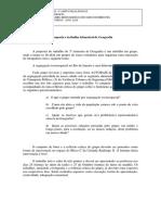 Proposta e Trabalho de Geografia - 3 Certificação