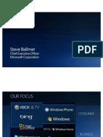 Ballmer Microsoft FAM 2010 (Part 1)