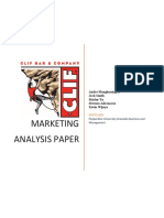 clif bar marketing analysis report