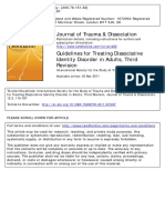 Guidelines for Treating Dissociative IDENTITY DISORDER in ADULTS