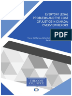 Everyday Legal Problems and the Cost of Justice in Canada - Overview Report