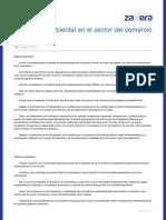 Gestion Ambiental en El Sector Del Comercio