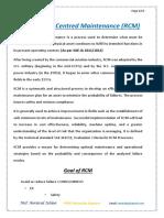 Reliability Centred Maintenance -RCM