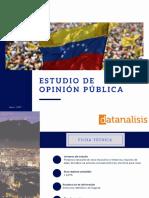 Datanalisis Estudio de Opjnión Pública Nacional  Junio , 2017