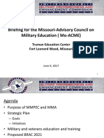 briefing for missouri-advisory council on military education mo-acme