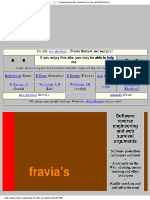 Fravia's reverse engineering | World Wide Web | Technology