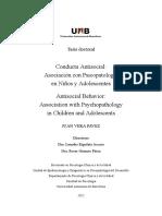 Tesis Doctoral Conducta Antisocial - Asociacion en Psicopatologia en Niños y Adolescentes