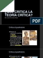 Qué Critica La Teoría Crítica2