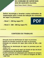 Item 3 - REDUÇÃO DO CONSUMO DE VAPOR (W. Pizaia - Copersucar).ppt
