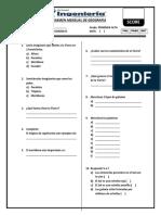 Examen Mensual de Geografía